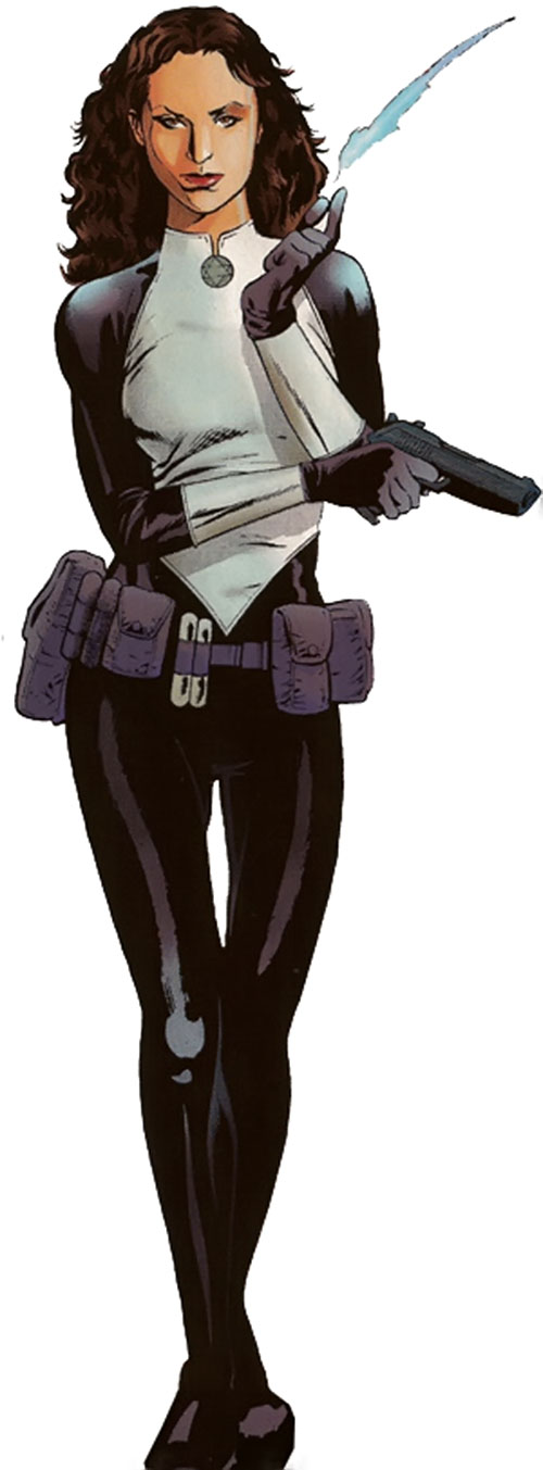 Sabra (Marvel Comics) in the black and white uniform