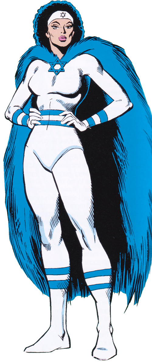 Sabra (Marvel Comics) in the 1980s with the afro