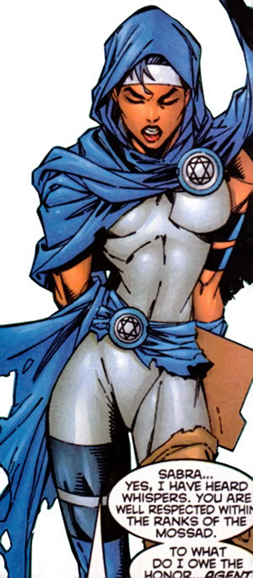 Sabra (Marvel Comics) with the hooded cape