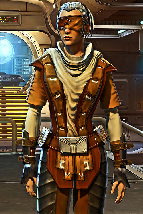 Sabra Shulvu Star Wars Old Republic jedi sentinel