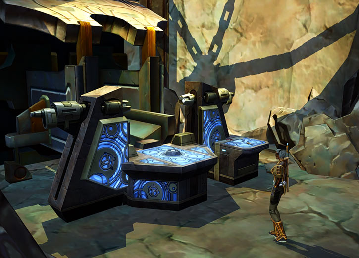Star Wars Old Republic - Sabra Shulvu silent Jedi knight - Lightsabre forge