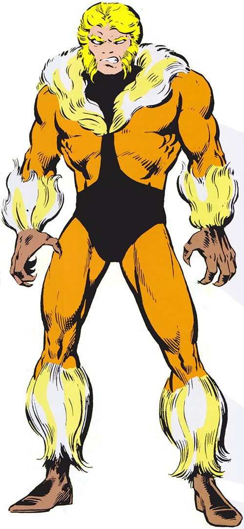 Sabretooth (Wolverine enemy) (Marvel Comics) during the 1980s, from the handbook