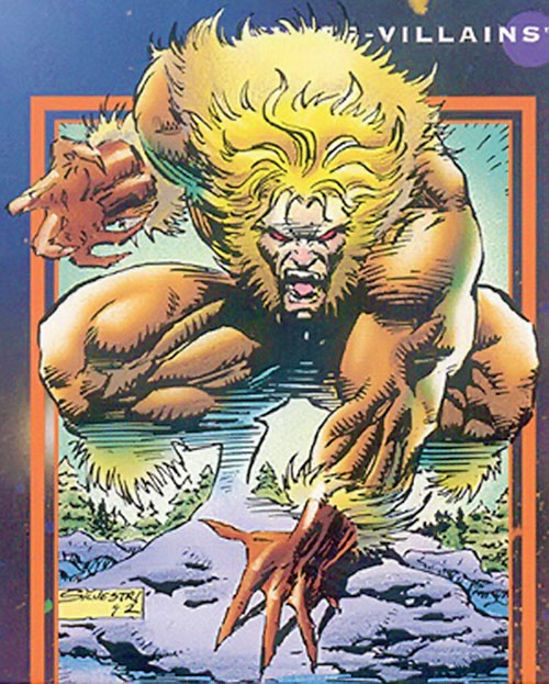 Sabretooth (Wolverine enemy) (Marvel Comics) trading card