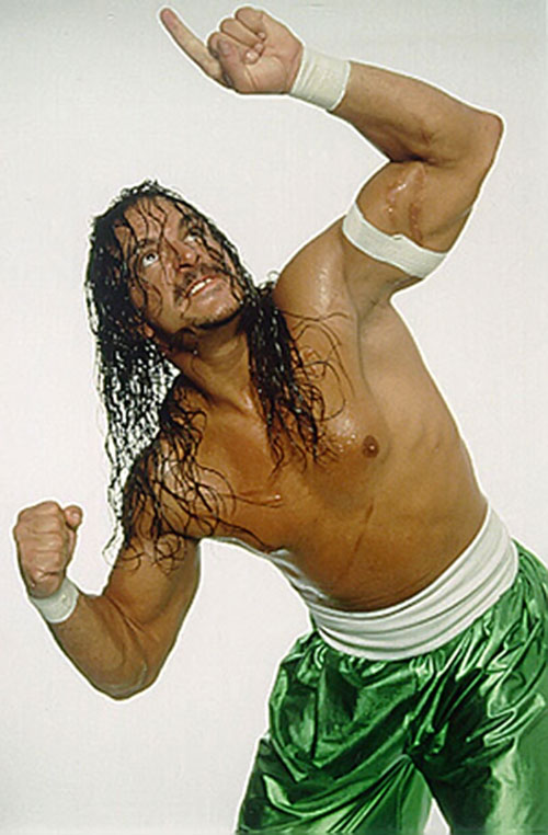 Sabu pointing at the sky