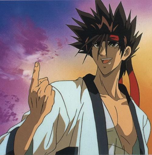 Sagara Sanosuke (Rurouni Kenshin) flicking a finger