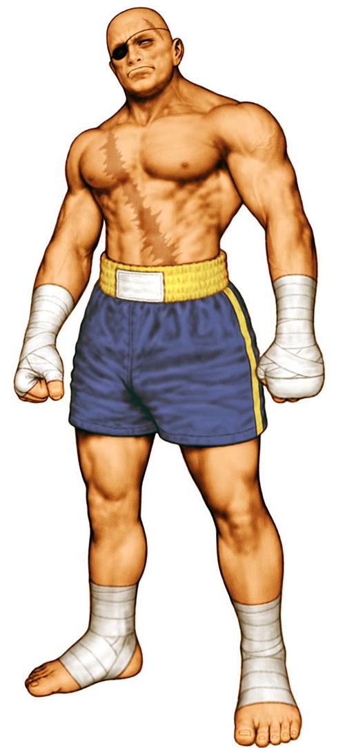 Sagat from Street Fighter ready to fight