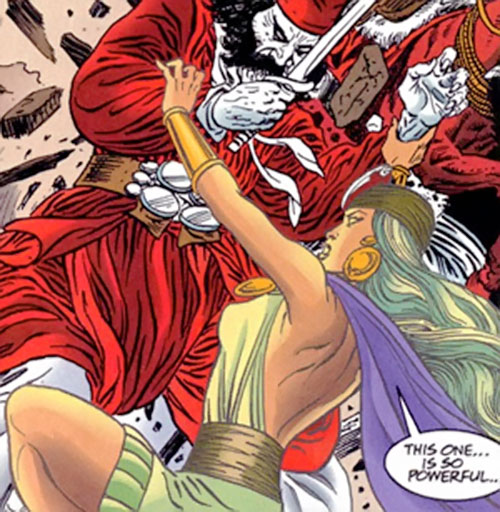 Salamanca of Super-Malon (DC Comics) fighting a gualicho ghost