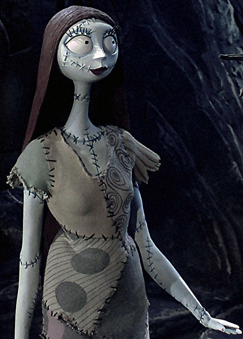 Sally (Nightmare Before Christmas) faintly smiling