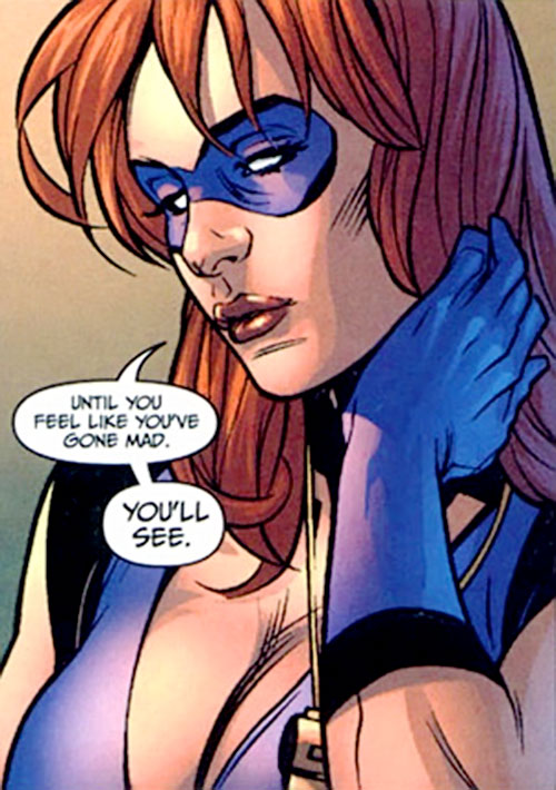 Sally Sonic (7 Soldiers) (DC Comics) face closeup