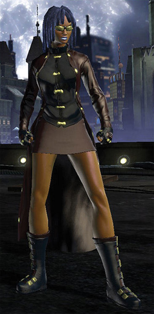 Salwa of Bana-Mighdall (DC Universe Online) with golden sunglasses