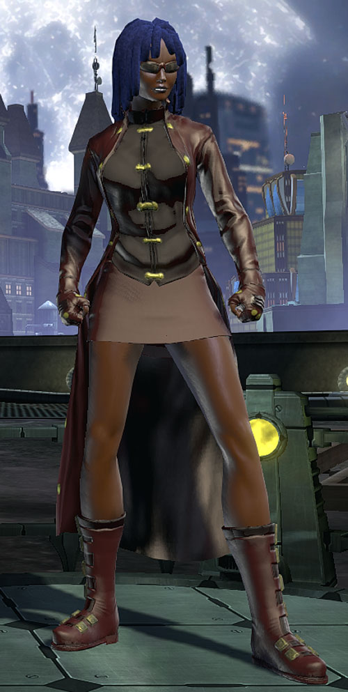 Salwa of Bana-Mighdall (DC Universe Online) with brown sunglasses