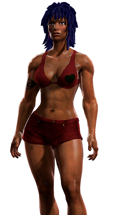 Salwa of Bana-Mighdall (DC Universe Online) in short shorts