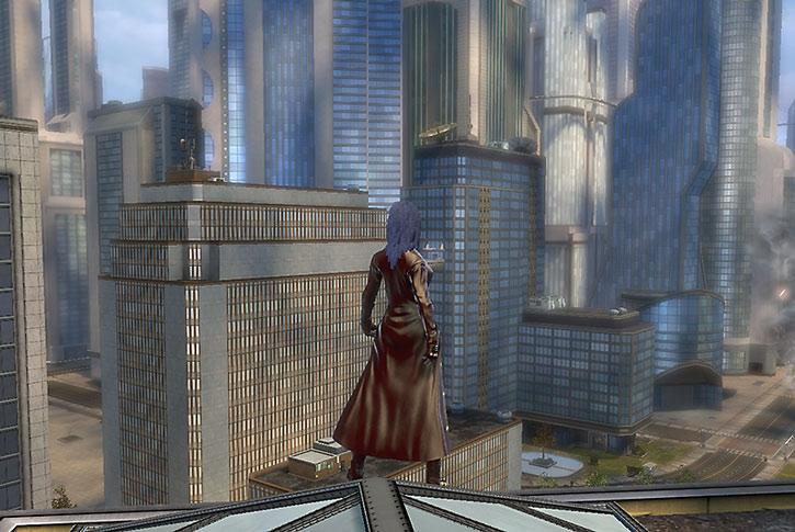 Salwa on a Metropolis rooftop