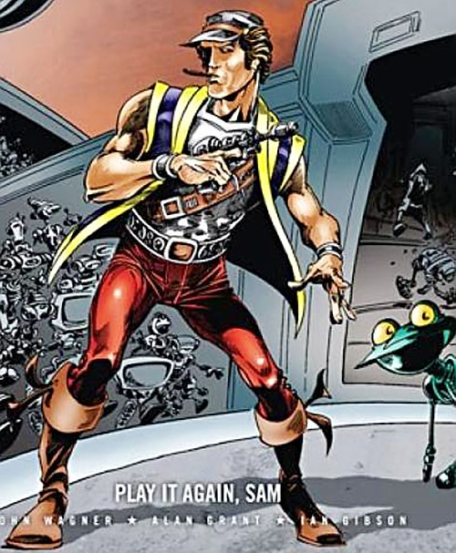 Sam Slade Robo-Hunter (2000AD Comics) and running robots