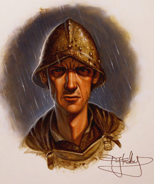 Duke Sam Vimes (Pratchett's Discworld watch) portrait art