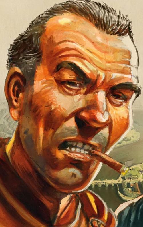 Duke Sam Vimes (Pratchett's Discworld watch) painting with cigar