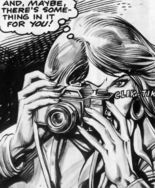 Samantha Eden (Bloodstone character) (Marvel Comics) taking a photograph