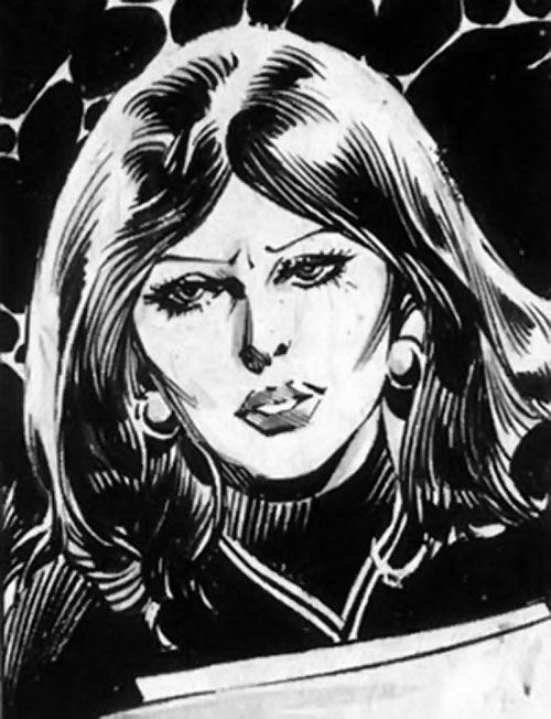 Samantha Eden (Bloodstone character) (Marvel Comics) face closeup