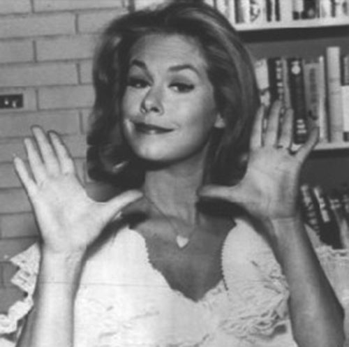 Samantha Stephens (Elizabeth Montgomery in Bewitched) black and white photo