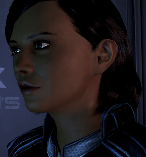 Samantha Traynor (Mass Effect 3) face closeup
