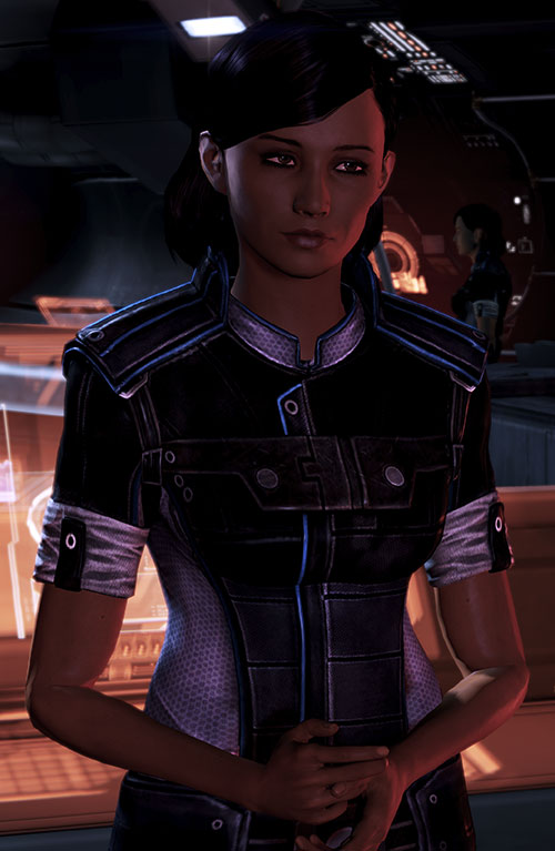 Samantha Traynor (Mass Effect 3) being shy
