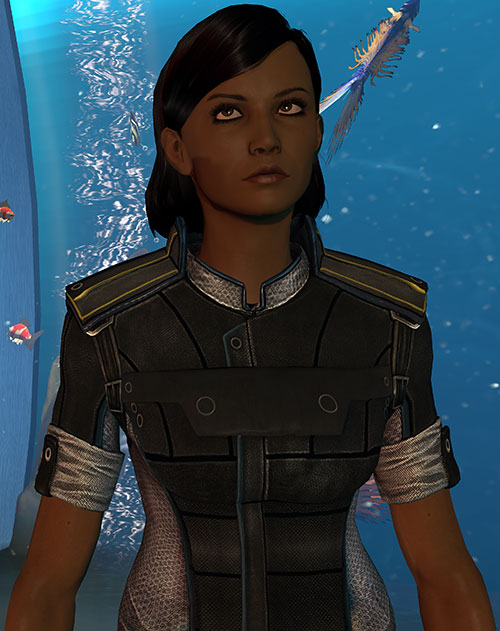 Samantha Traynor (Mass Effect 3) and the aquarium