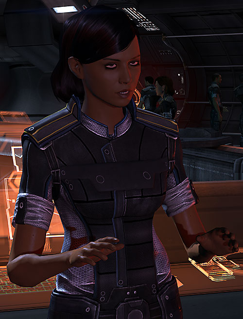 Samantha Traynor (Mass Effect 3) explaining things