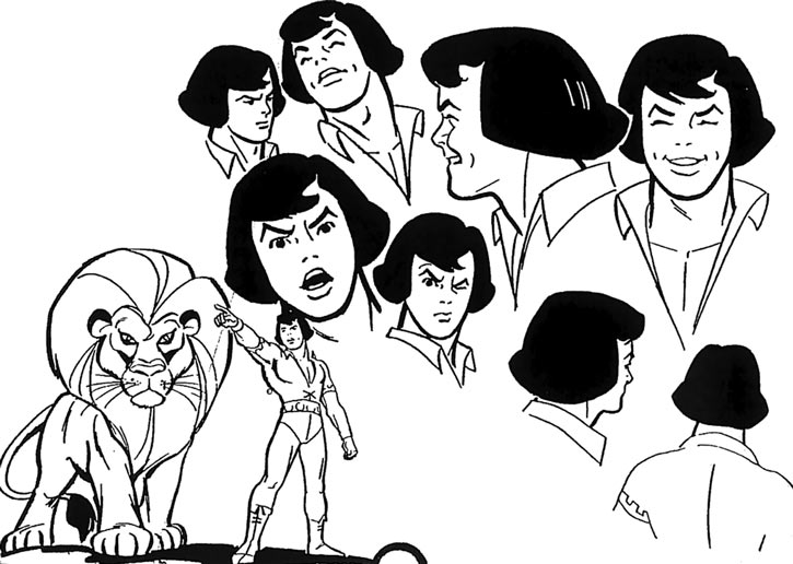Young Samson and Goliath (Hanna Barbera cartoons) model sheet alex toth emoting