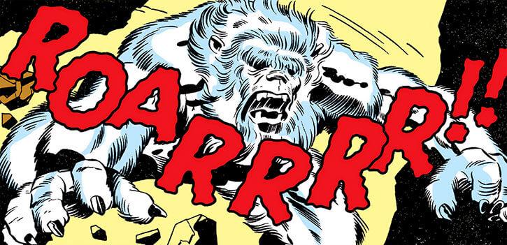 Samurai City (Marvel Comics) (Black Panther by Jack Kirby) yeti guardian roar charge