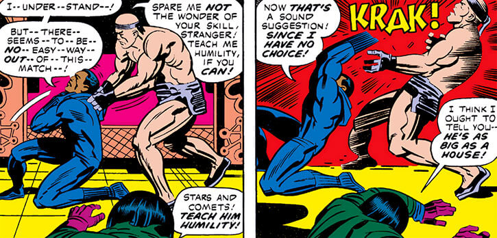Samurai City (Marvel Comics) (Black Panther by Jack Kirby) hand to hand fight