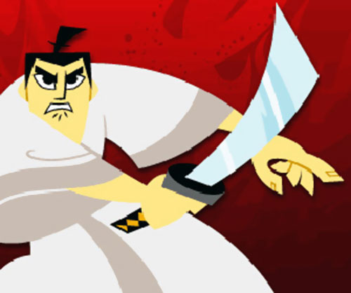Samurai Jack (Cartoon Network) swinging his sword