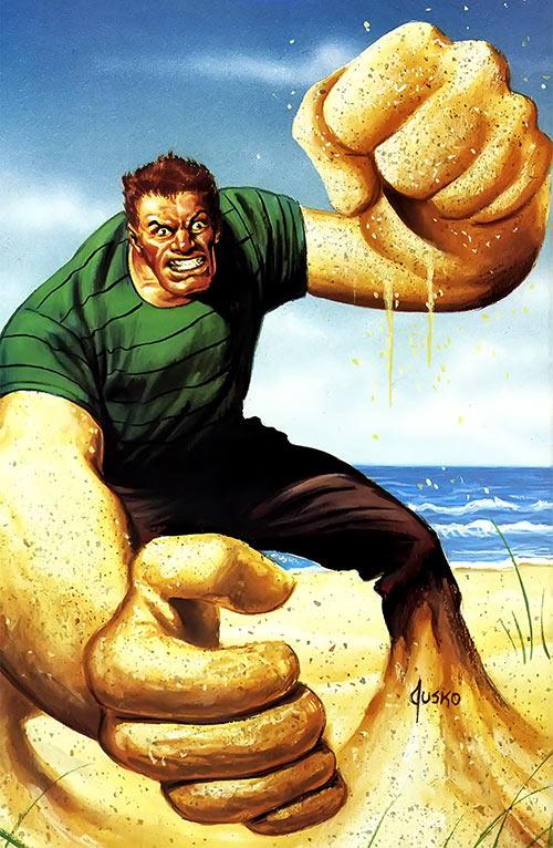 Sandman (Marvel Comics) (Spider-Man enemy) Joe Jusko masterpieces painting