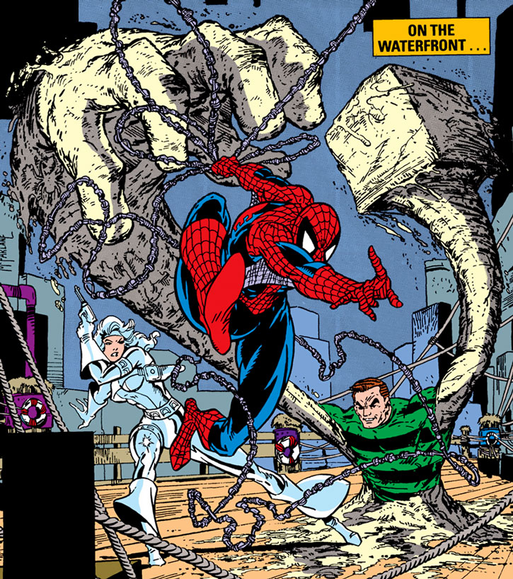 Sandman vs. Spider-Man and Silver Sable