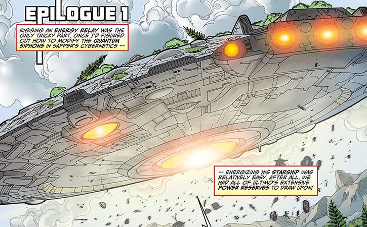 Sapper's big starship taking off