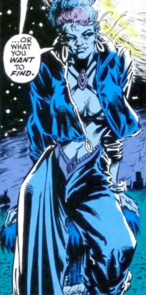 Sapphire Styx (Wolverine enemy) (Marvel Comics) in the night
