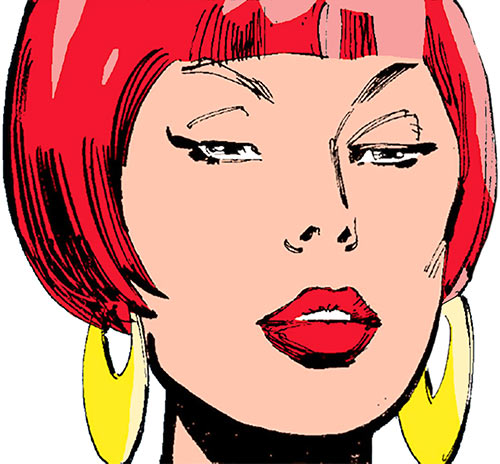Sapphire Styx (Wolverine enemy) (Marvel Comics) face closeup