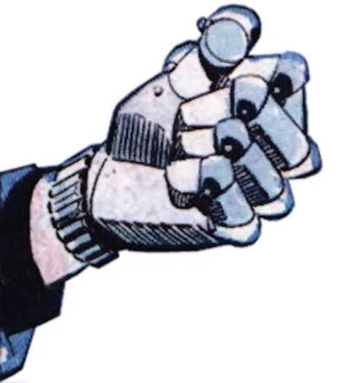 Sarge Steel (Charlton comics)'s steel fist