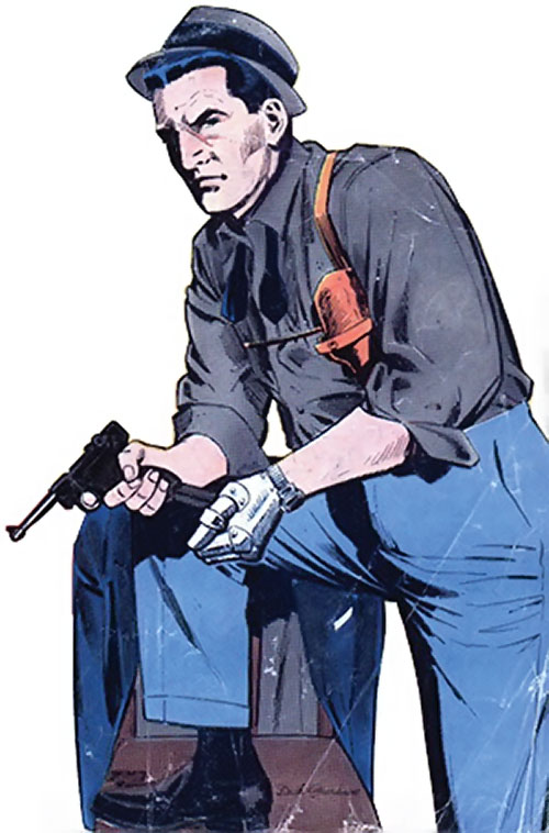 Sarge Steel (Charlton comics) from the first issue cover, with a hat