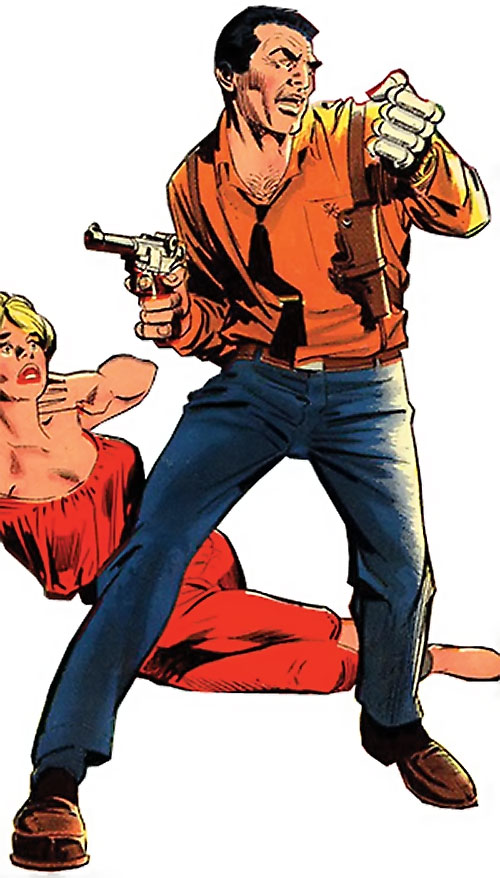 Sarge Steel (Charlton comics) looking manly