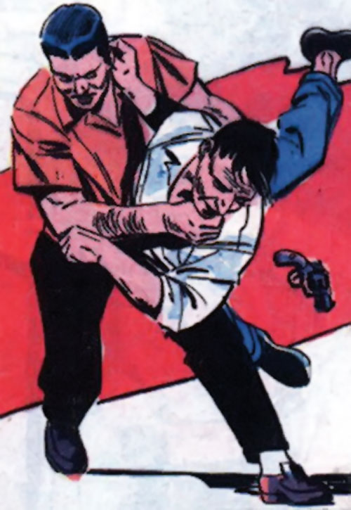 Sarge Steel (Charlton comics) doing judo