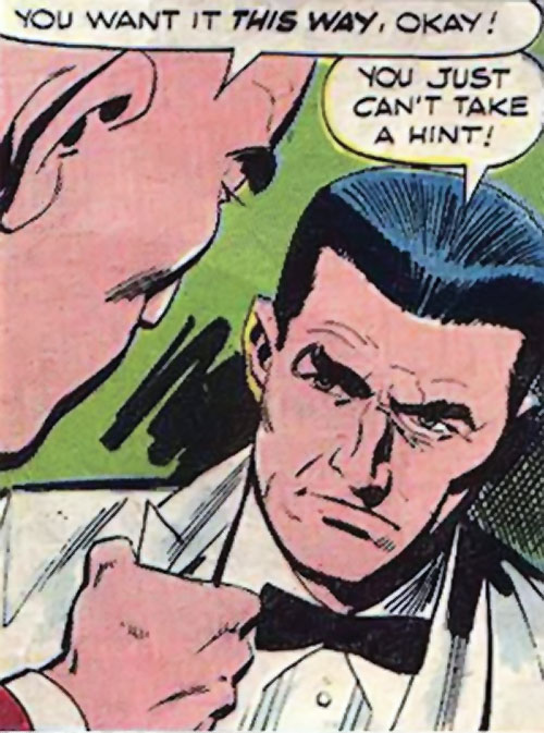 Sarge Steel (Charlton comics) in a white tuxedo