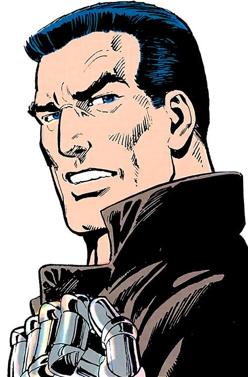Sarge Steel (DC Comics) dramatic face closeup