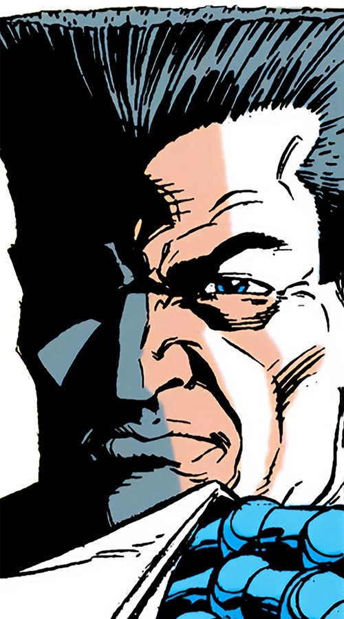 Sarge Steel (DC Comics) reading documents