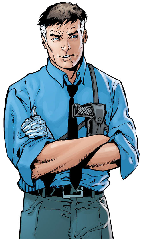 Sarge Steel (DC Comics) amused, crossed arms