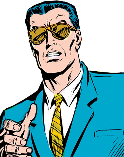 Sarge Steel (DC Comics) with smoked glasses