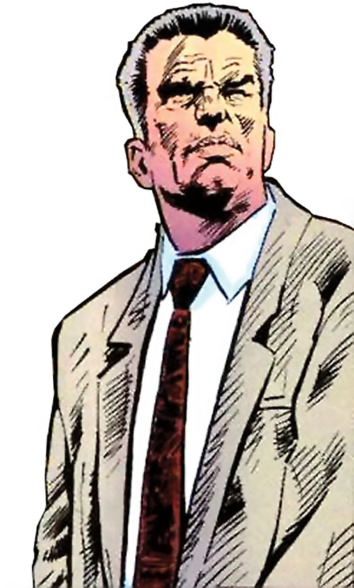 Sarge Steel (DC Comics) in a beige suit