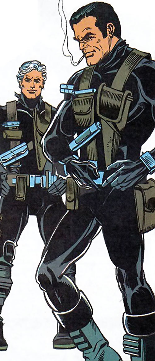 Sarge Steel (DC Comics) and King Faraday in operation gear