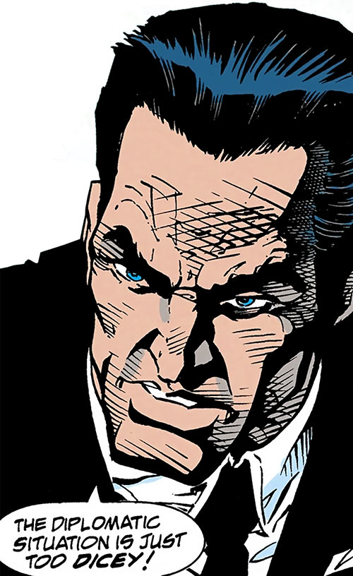 Sarge Steel (DC Comics) wilful face closeup