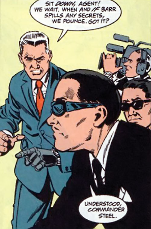 Sarge Steel (DC Comics) with secret service agents