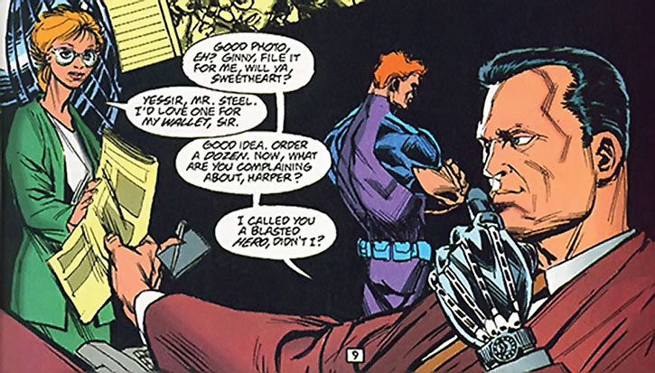 Sarge Steel, Roy Harper and an assistant